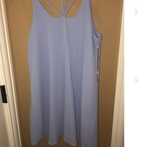 Francesca's sky blue dress